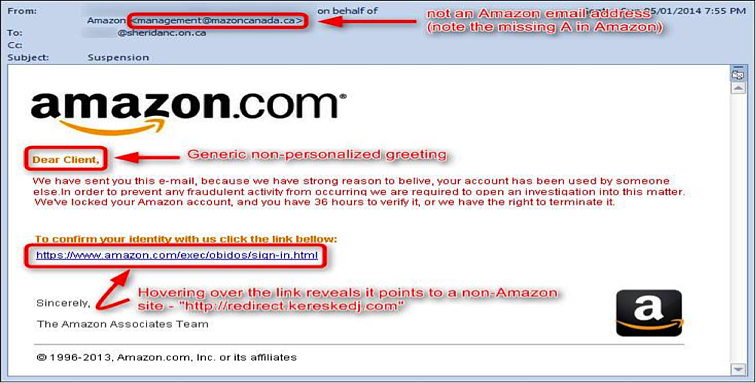 Pharming attack on amazon website.