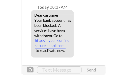Dear customer,Your bank account has been blocked.-1