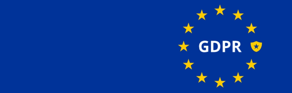 GDPR blue banner